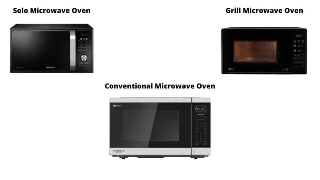 3 Types of Microwave Ovens