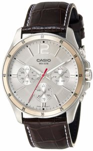 Casio Enticer Chronograph White Dial Men's Watch
