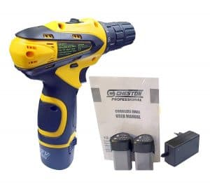Cheston 10 mm Dual Speed Keyless Chuck 12V Cordless Drill Screwdriver with 2 Batteries, LED Torch Variable Speed and Torque Setting