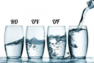 Difference between RO, UV and UF Water Purifiers