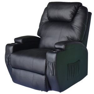 HomCom-PU-Leather-Heated-Vibrating-360-Degree-Swivel-Massage-Recliner-Chair-with-Remote