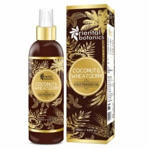 Oriental Botanics Organic Coconut & Wheat Germ Oil For Hair