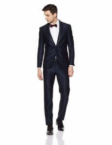 Peter England Men's Notch Lapel Slim Fit Suit