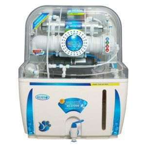 Ruby Ro+Uv+Tds Controller Water Purifier, White & Blue