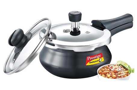 Prestige Deluxe Duo Plus Induction Base Aluminium Pressure Cooker