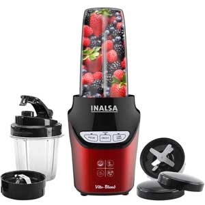Inalsa Mixer Grinder Vito Blend 1000W with Two Tritan Jars
