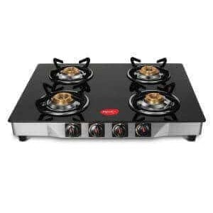 Pigeon Ultra Glass, SS Manual Gas Stove