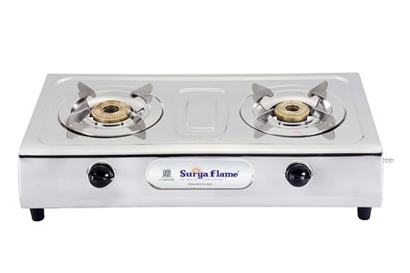 Surya Flame 2B Ultimate Stainless Steel Auto-Ignition (ISI and CE Certified)